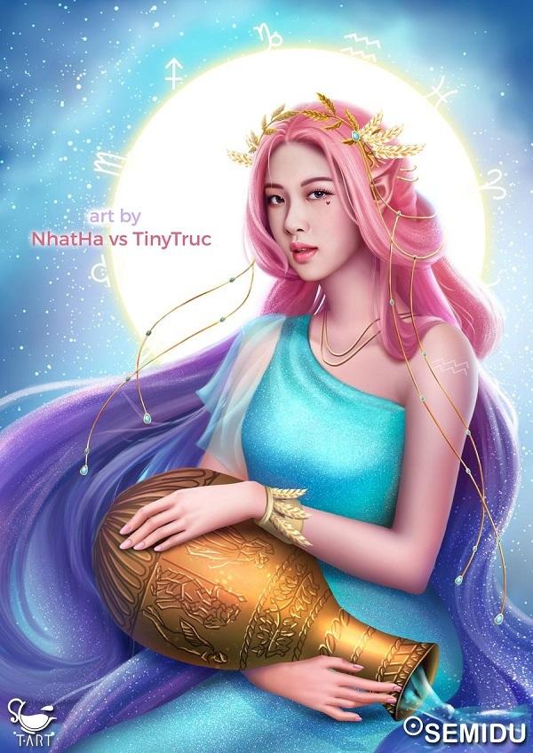 Giọng ca chính của girlgroup YG - Rose trở thành nữ thần cung Bảo Bình.