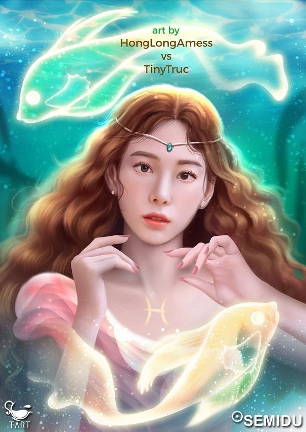 Trưởng nhóm huyền thoại của SNSD - Teayeon đại diện cho cung Song Ngư mộng mơ, thuần khiết.