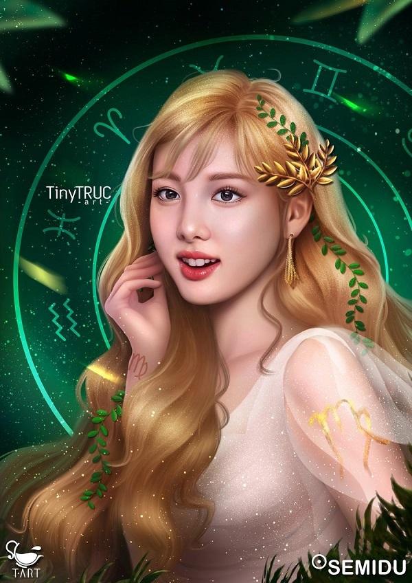 Na Yeon của Twice với hình tượng Xử Nữ trinh trắng.
