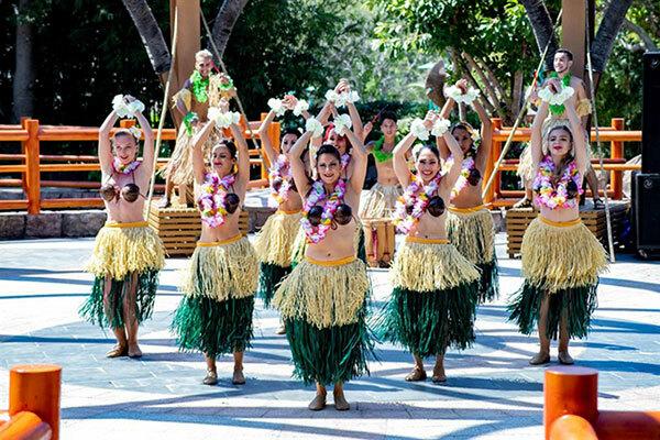 Du khách đến công viên nước Tết này sẽ được hòa mình vào các hoạt động biểu diễn nghệ thuật mừng năm mới.