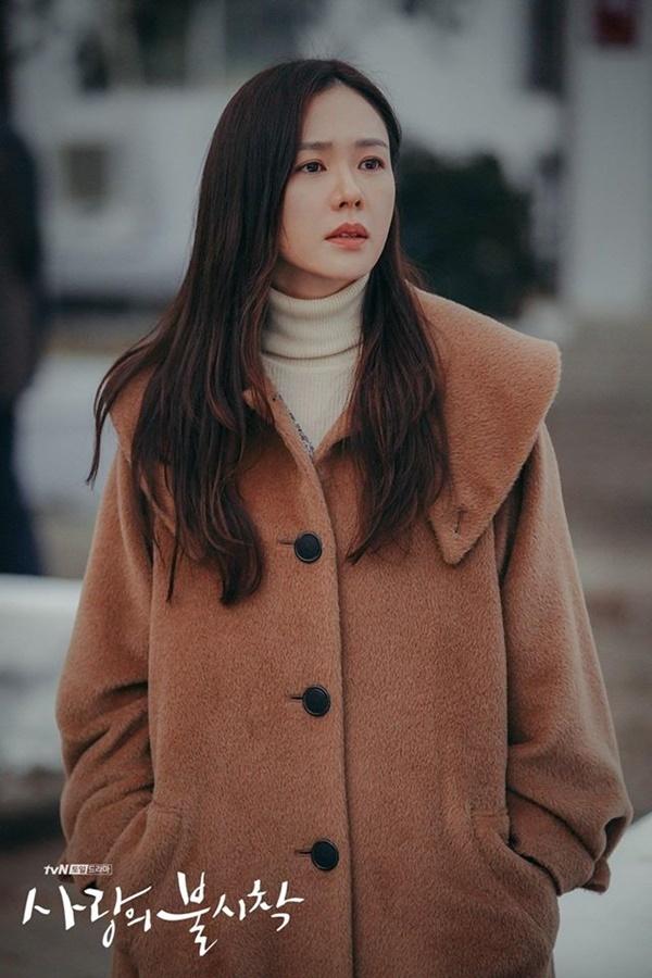 Son Ye Jin trên phim trường Hạ cánh nơi anh.