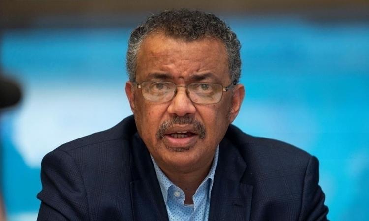Tổng giám đốc Tổ chức Y tế Thế giới (WHO) Tedros Adhanom Ghebreyesus trong cuộc họp báo hôm nay, 30/1. Ảnh: Reuters.
