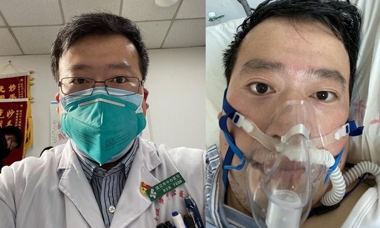 Bác sĩ Lý Văn Lượng trước và sau khi nhiễm nCoV.