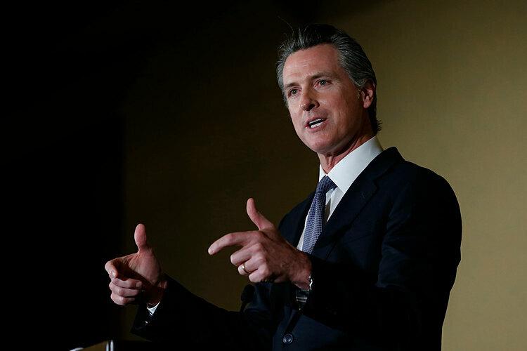Thống đốc bang California, ông Gavin Newsom.Ảnh: AP.