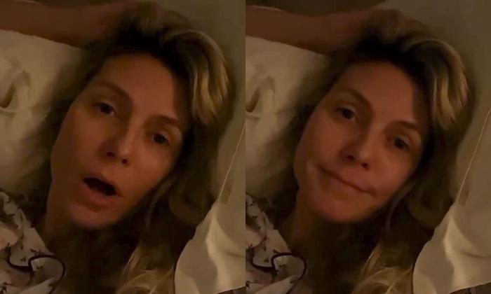 Heidi Klum chia sẻ tình trạng sức khỏe trên Instagram.
