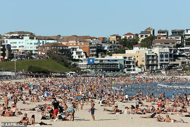 Hình ảnh bãi biển Bondi như muốn chọc tức Thủ tướng Australia Scott Morrison.