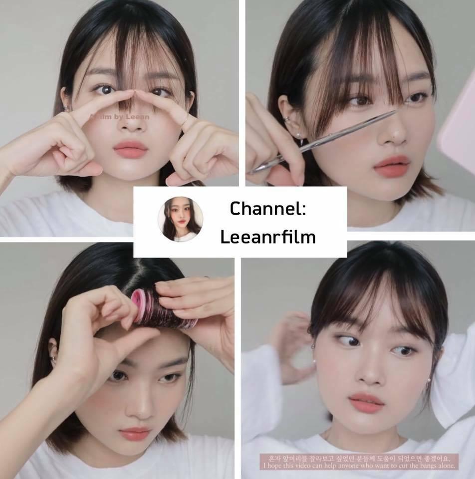 Video hướng dẫn cắt tóc mái của vlogger Leeanrfilm thu hút đến hơn 5 triệu lượt xem vì hướng dẫn rõ ràng, dễ hiểu. Cô bạn còn có cả phụ đề tiếng Việt nên rất dễ cho các cô gái Việt học hỏi để tự tạo kiểu tóc ngay tại nhà. Tóc mái của Leeanrfilm là kiểu mái thưa, độ dài ngang lông mày chuẩn Hàn Quốc. Toàn bộ video cô nàng chỉ mất khoảng 3 phút để có kiểu tóc như ra tiệm.