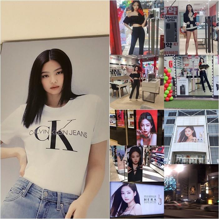 Hình ảnh quảng cáo của Jennie ở mọi nơi.