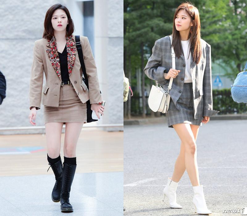 Ngay cả khi mặc suit công sở, cô nàng trông vẫn chất lừ nhờ cách mix đa dạng cùng boots.
