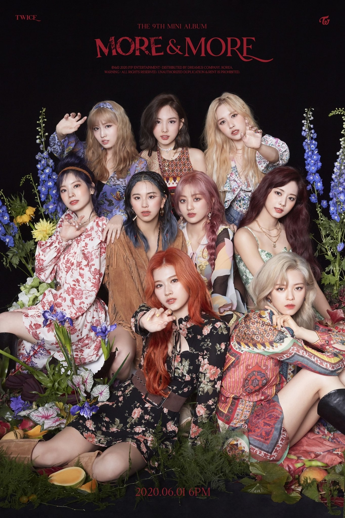 Twice thử nghiệm concept hippie trong ảnh teaser comeback.
