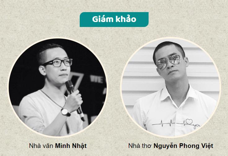 Nhà văn Minh Nhật và nhà thơ Phong Việt là hai giám khảo chuyên môn của cuộc thi.