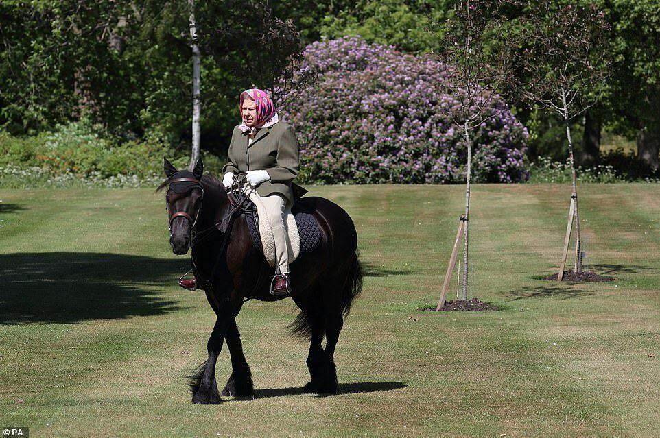 Nhiều người an tâm khi ở tuổi 94, Nữ hoàng vẫn vui với đam mê cưỡi ngựa.