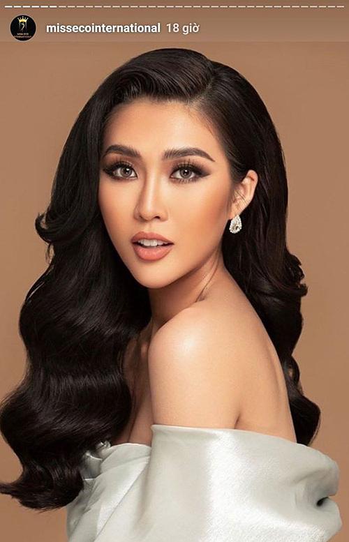 Miss Eco International đăng hình Tường Linh.