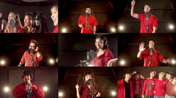 Các nghệ sĩ hòa giọng trong MV.