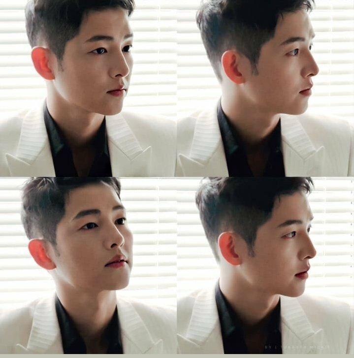Hậu trường một buổi chụp hình của Song Joong Ki được công ty quản lý chia sẻ ngày 10/6.