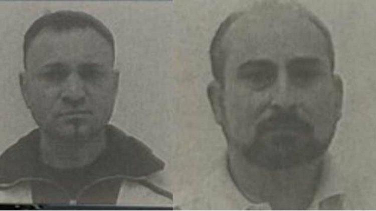 Chân dung hai phạm nhân trốn tù đăng tải trên truyền thông Italy.