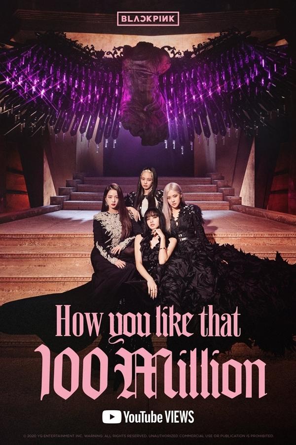YG đăng poster ăn mừng cột mốc 100 triệu view của Black Pink.