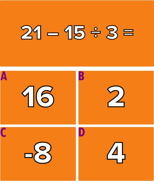 Giải quyết 6 phép tính này mà không cần máy tính (2) - 6