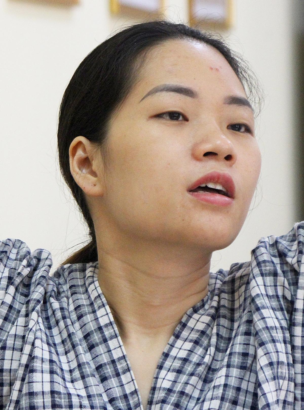 Chị Phú Thị Hạnh tại lớp học nhảy Zumba.