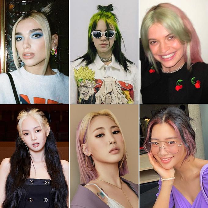 Dù không phải là người đầu tiên lăng xê mốt nhuộm tóc mái sáng màu, Jennie vẫn tạo nên sự chú ý lớn. Nhiều người nhận xét thành viên Black Pink đi sau các tên tuổi như Dua Lipa, Billie Eilish nhưng lại có tầm ảnh hưởng về thời trang nên tạo trend mạnh mẽ hơn hẳn.