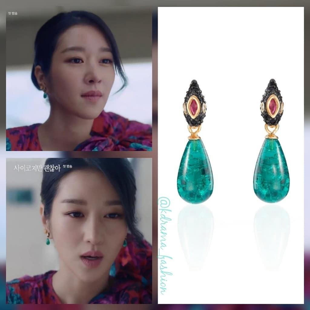 Xuyên suốt các tập phim, Moon Young chưng diện hàng chục kiểu hoa tai đài các. Cô nàng thích những thiết kế từ nhỏ xinh đến cầu kỳ, lấp lánh.