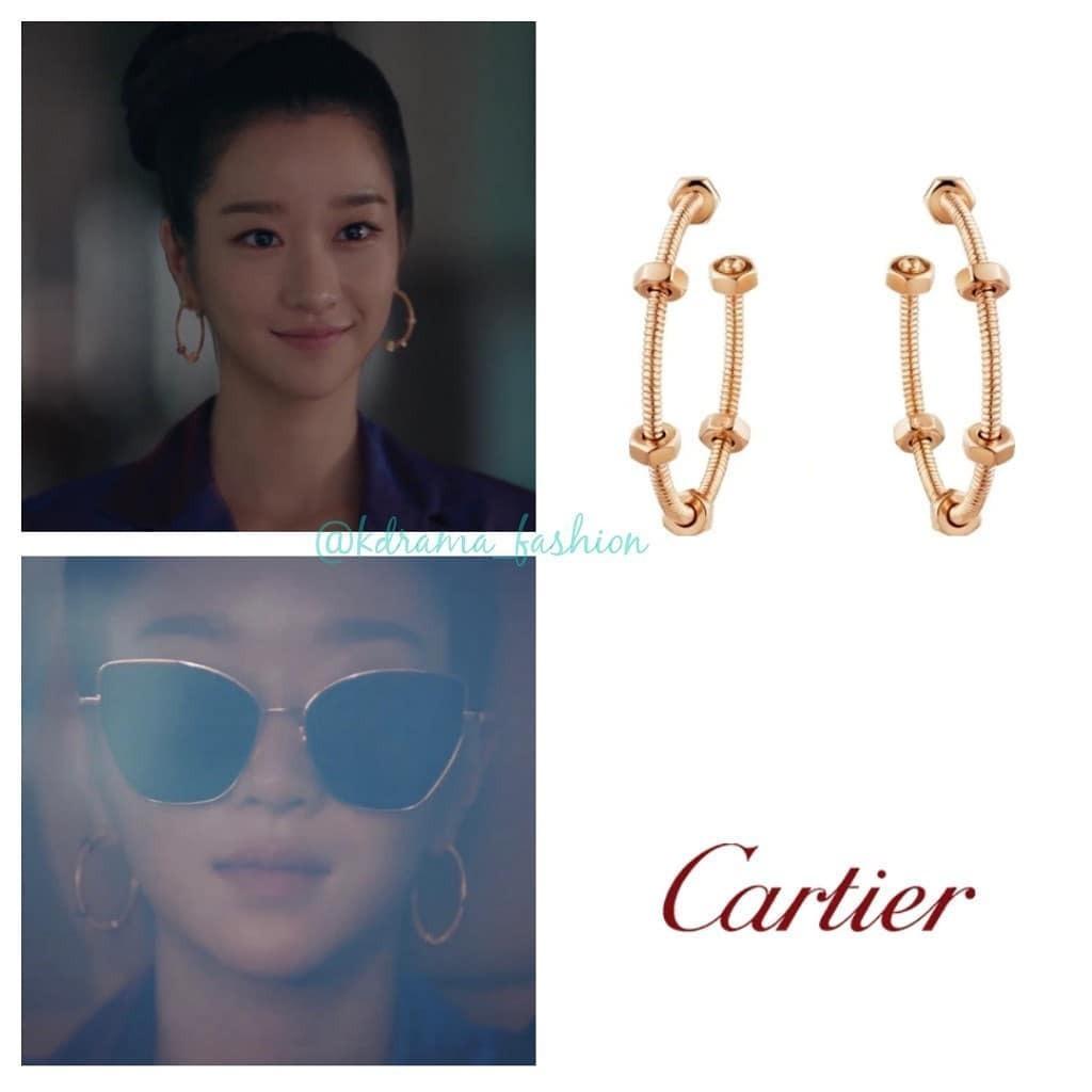 Vẻ đẹp lạnh lùng của cô nàng điên nữ cũng được thể hiện rõ nét hơn bằng hoa tai Cartier với thiết kế mạnh mẽ, sáng tạo, giá 5.000 USD (khoảng 116 triệu đồng).
