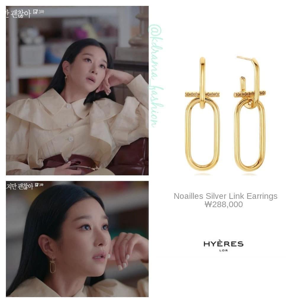 Ngoài các thương hiệu cao cấp, mỹ nhân điên còn đeo nhiều hoa tai của các thương hiệu nội địa Hàn, giá bán trong khoảng 100.000-300.000 won (khoảng 2-6 triệu đồng).