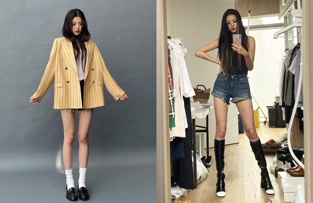 Jang Won Young liên tục diện những bộ đồ khoe trọn đôi chân thon dài hút mắt.