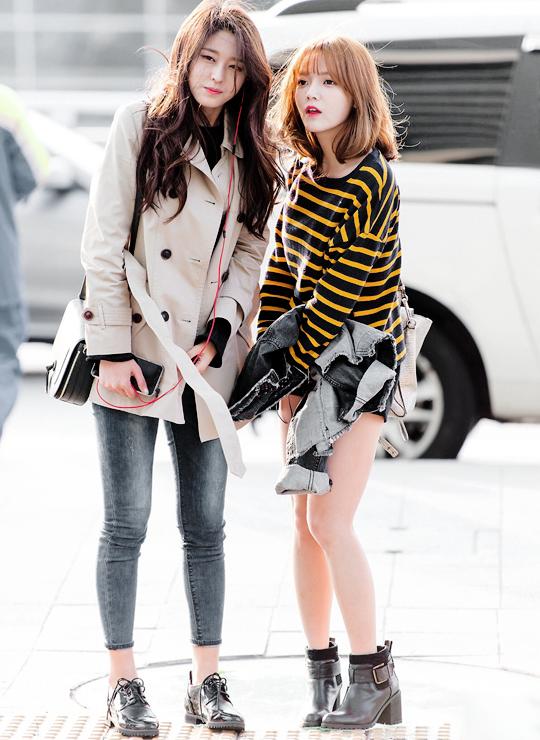 Seol Hyun (trái) và Ji Min là cặp đôi thân thiết nhất trong AOA.