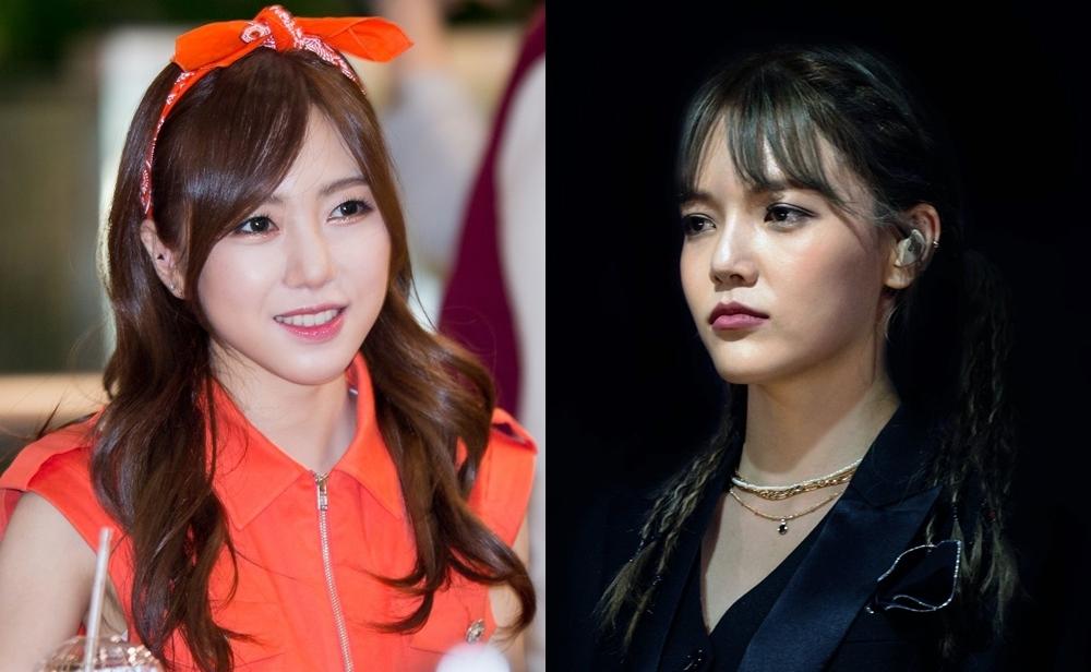 Kwon Mina (trái) tiết lộ lý do cô rời AOA là vì bị trưởng nhóm Ji Min bắt nạt suốt thời gian dài.