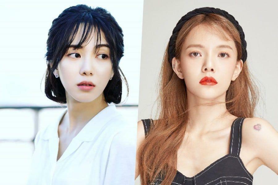 Mina (trái) tố Ji Min bắt nạt cô suốt 10 năm hoạt động trong nhóm AOA.