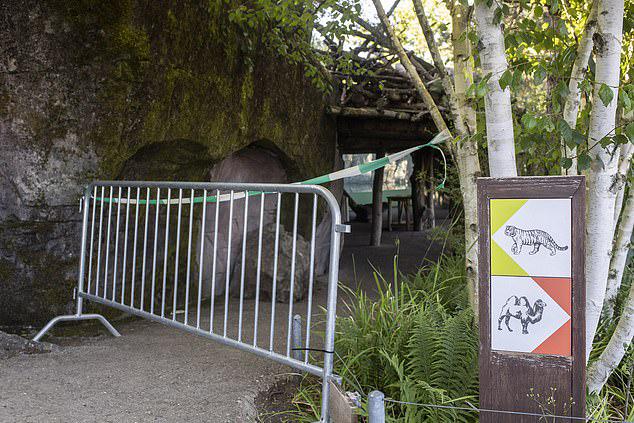 Sở thú đã phong tỏa hiện trường sau khi vụ tấn công xảy ra vào chiều 4/7. Ảnh: EPA.