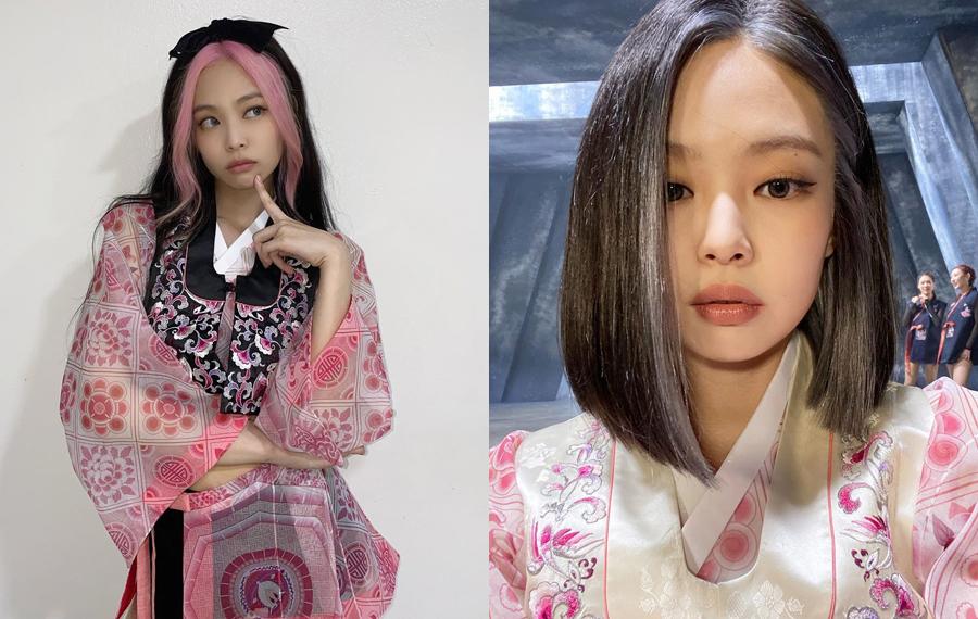 Jennie đăng ảnh cho thấy sự khác biệt khi để tóc dài và tóc ngắn.