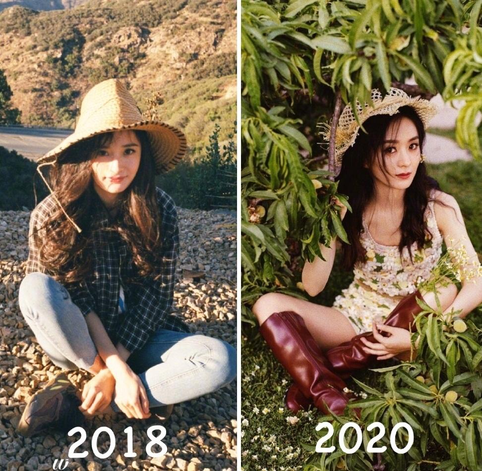 Fan Dương Mịch cho rằng bộ ảnh mới của Triệu Lệ Dĩnh có concept hao hao bộ ảnh của ngôi sao Tam sinh tam thế cách đây 2 năm.