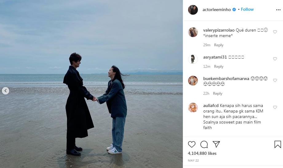 Rộ loạt bằng chứng hẹn hò của Lee Min Ho - Kim Go Eun - 16