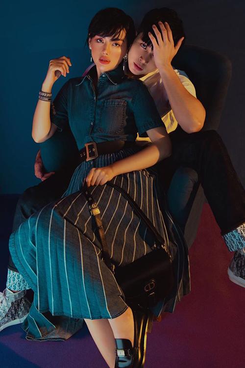 Khánh Linh - Jun Phạm tình tứ trong bộ ảnh mới. Gần đây cả hai có dịp hợp tác trong một bộ phim truyền hình.
