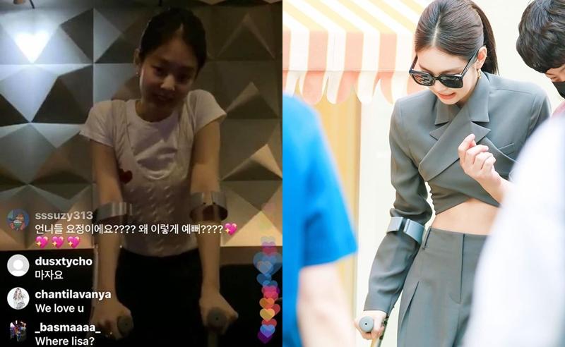 Đầu tháng 5, Jennie bị chấn thương mắt cá chân và dây chằng khi tập luyện. Nữ idol từng đi nạng trong một buổi livestream và sự kiện thời trang.