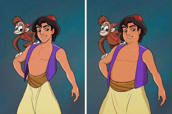 Aladdin, Tarzan trông thế nào khi mặt nọng, bụng bia? - 1