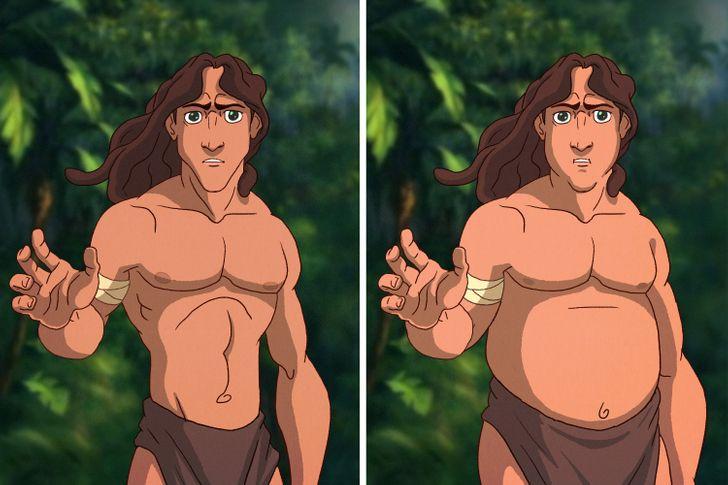Aladdin, Tarzan trông thế nào khi mặt nọng, bụng bia? - 13