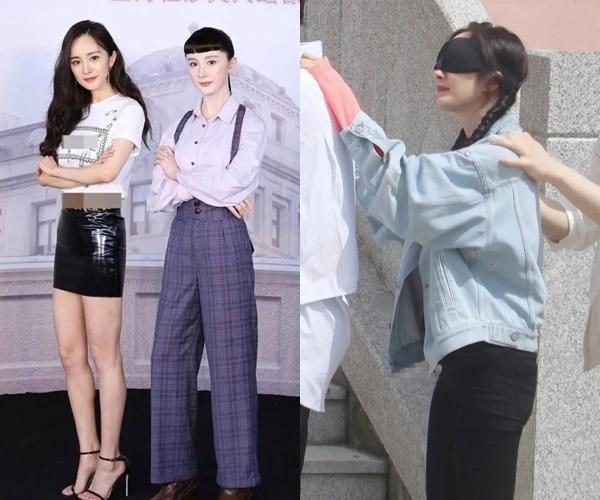 Những bức ảnh được netizen mang ra so sánh để chứng tỏ Dương Mịch không có thân hình đẹp như nhiều fan tâng bốc.