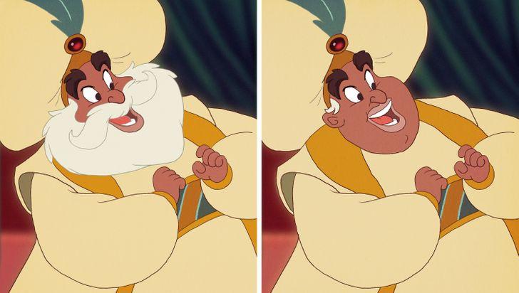 15 nhân vật Disney sẽ thế nào nếu không có bộ râu trứ danh? - 2
