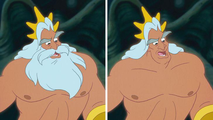 15 nhân vật Disney sẽ thế nào nếu không có bộ râu trứ danh? - 10
