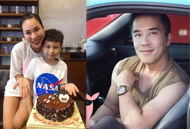 Khánh Ngọc và con trai làm sinh nhật ở Việt Nam cho ông xã.
