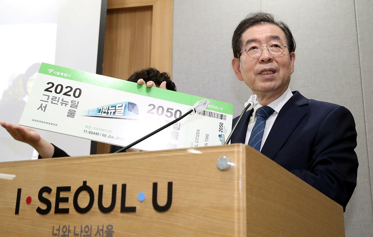 Cố thị trưởng Seoul Park Won Soon từng được xem là ứng viên sáng giá cho cuộc bầu cử tổng thống năm 2022. Ảnh:Reuters