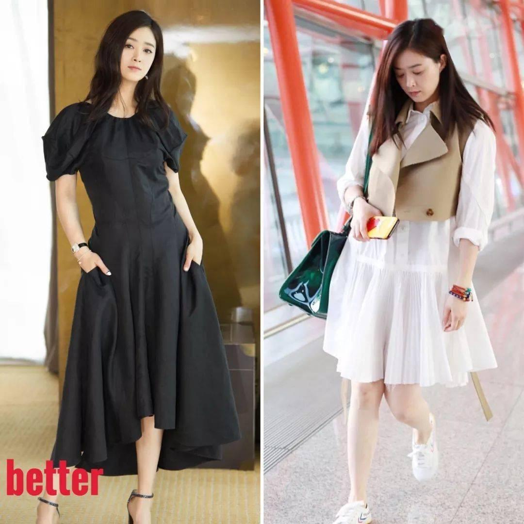 Cùng một vóc dáng, khi mặc đầm có độ ôm nhẹ nhàng và đầm suông rộng trông như hai người khác biệt.