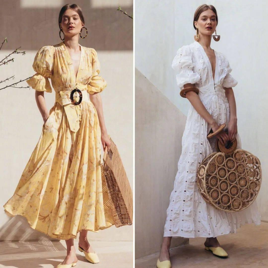 Muốn diện những chiếc váy bay bổng, rộng dài nhưng vẫn không bị tròn trịa, hãy chọn các thiết kế có điểm nhấn ở eo, ví dụ như đường chít eo, một hàng cúc chạy dài hay một chiếc thắt lưng...