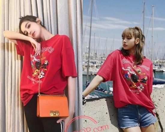 Hồi 2019, Cổ Lực Na Trát và Lisa cũng từng đụng độ chiếc áo phông họa tiết của Vetements.