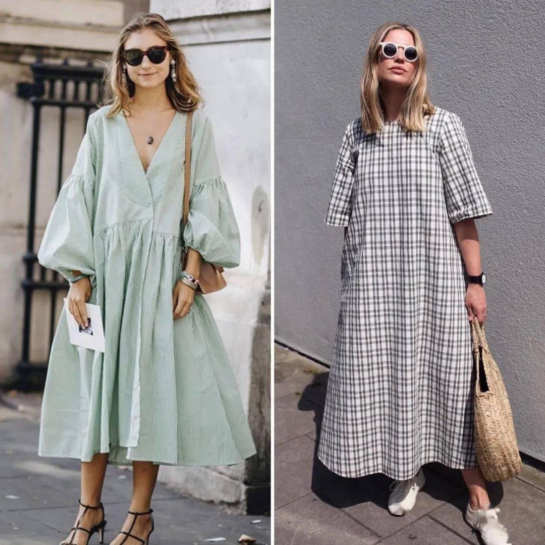 Nhiều người lầm tưởng rằng nếu thân hình có khuyết điểm, diện những chiếc váy rộng thùng thình có thể giúp bạn che được khuyết điểm. Thực tế kiểu trang phục này rất thoải mái nhưng có thể khiến người mặc trông phì nhiêu hơn.
