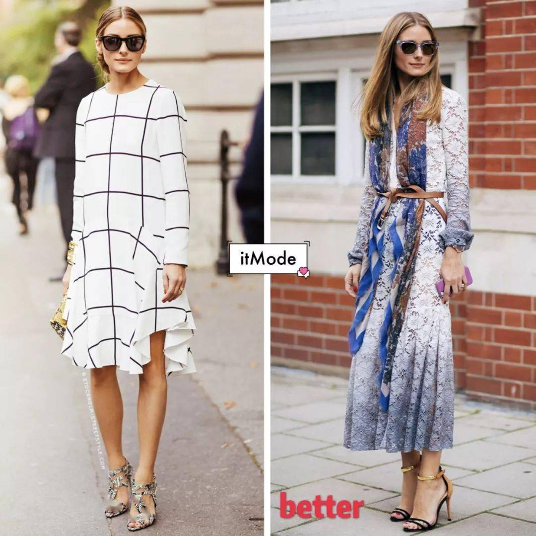 Fashionista Olivia Palermo cho thấy sự thay đổi về vóc dáng của cô khi diện một chiếc đầm suông và một chiếc váy có thắt lưng ngang eo để cố định.