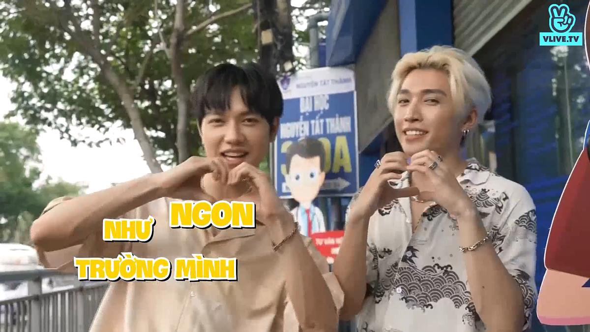 Trong tập 3 của chương trình Ngon như trường mình, phát sóng 10h sáng chủ nhật hàng tuần trên ứng dụng VLive, hai nam ca sĩ JSol và Cody tiếp tục chiều lòng người hâm mộ (VFAN), tới khám phá ẩm thực xung quanh trường ĐH Nguyễn Tất Thành.